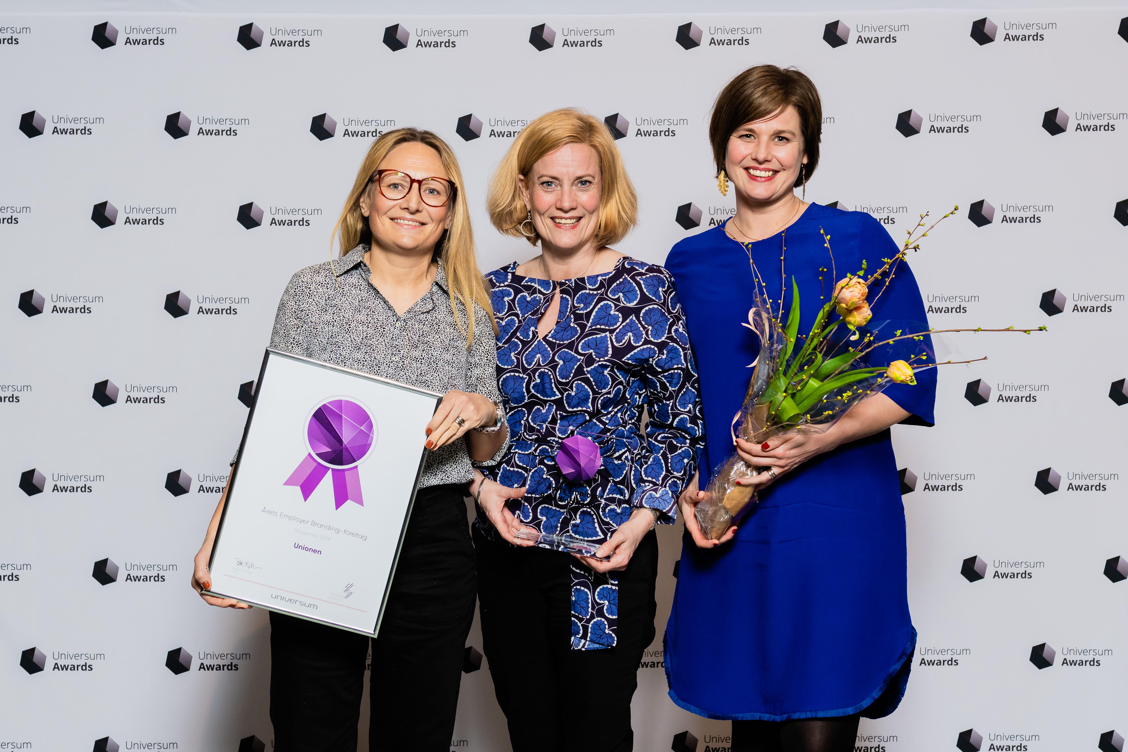 Unionen Årets Employer branding-företag 2019