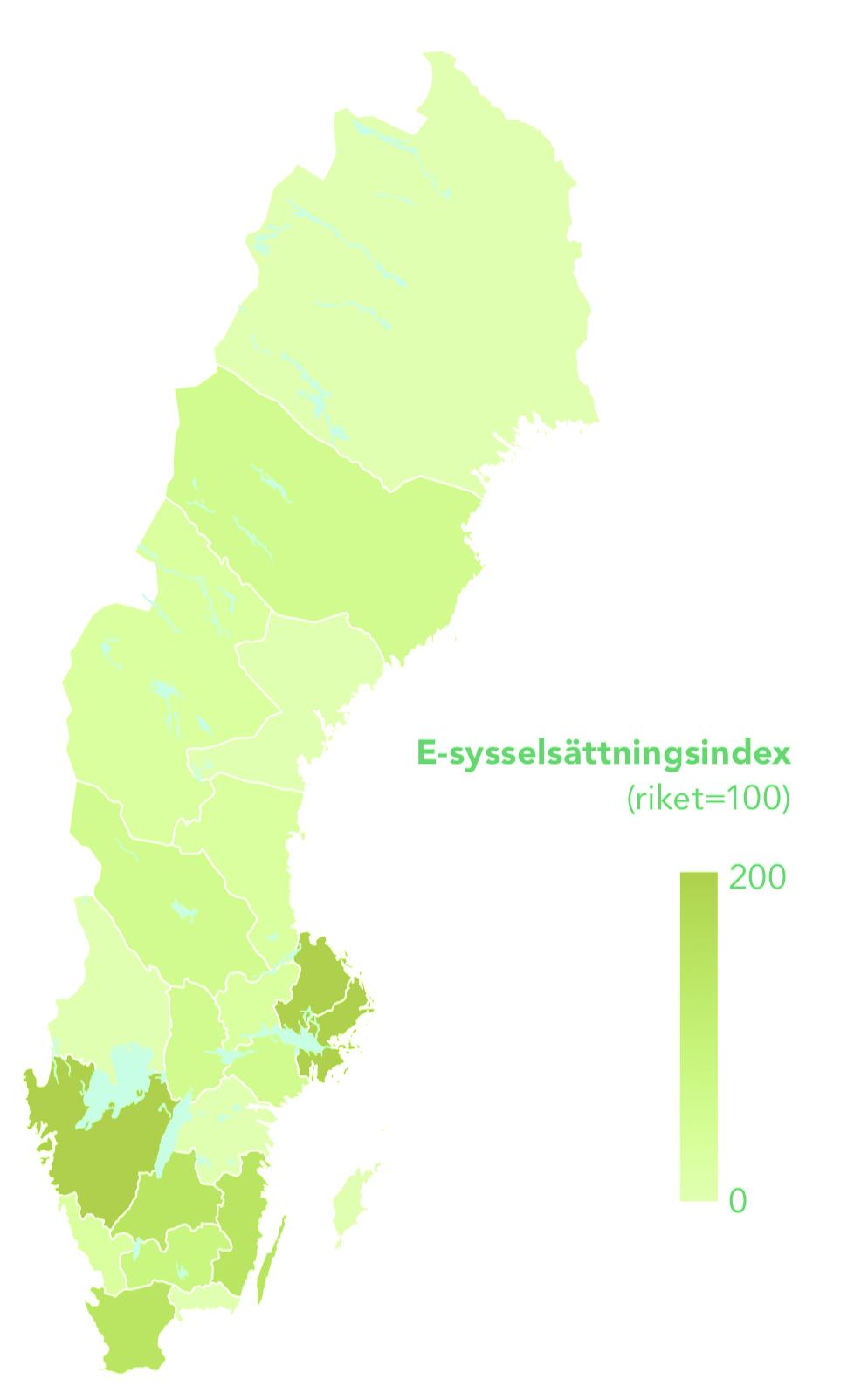 Karta över e-handelsegioner