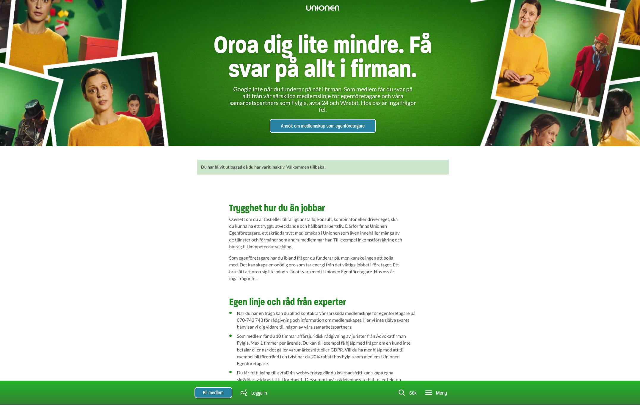 Kampanjsida för egetkampanj