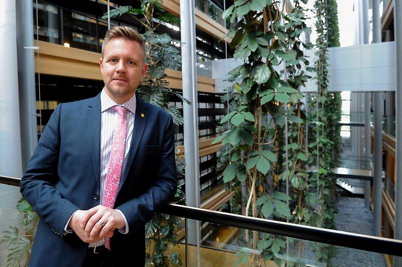 Fredrik Federlay i EU-parlamentet