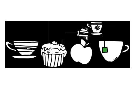 Illustration av kaffe med tillbehör
