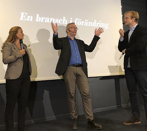Paulina Holm, Peter Hellberg och Andreas Rågsjö Thorell