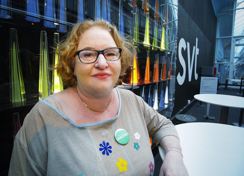 Maria Nissakas i SVT-huset.