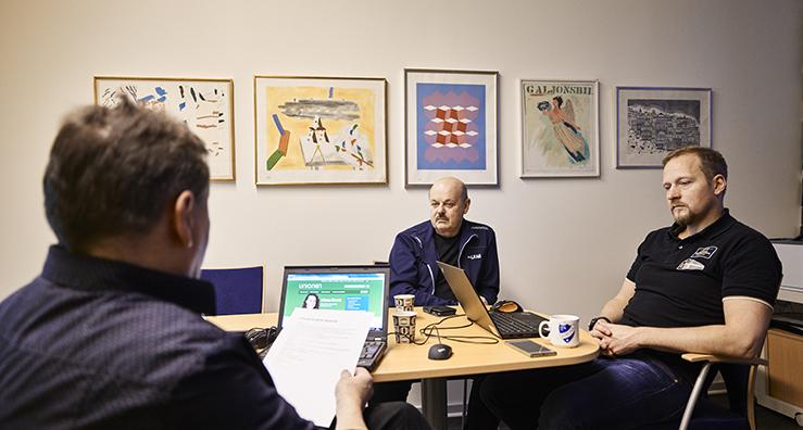 Bild: Förutom LKAB är klubbar från Radiotjänst, Esrange, Icehotel, Inspecta, Sandvik, Bil-City och CGI med i nätverket.