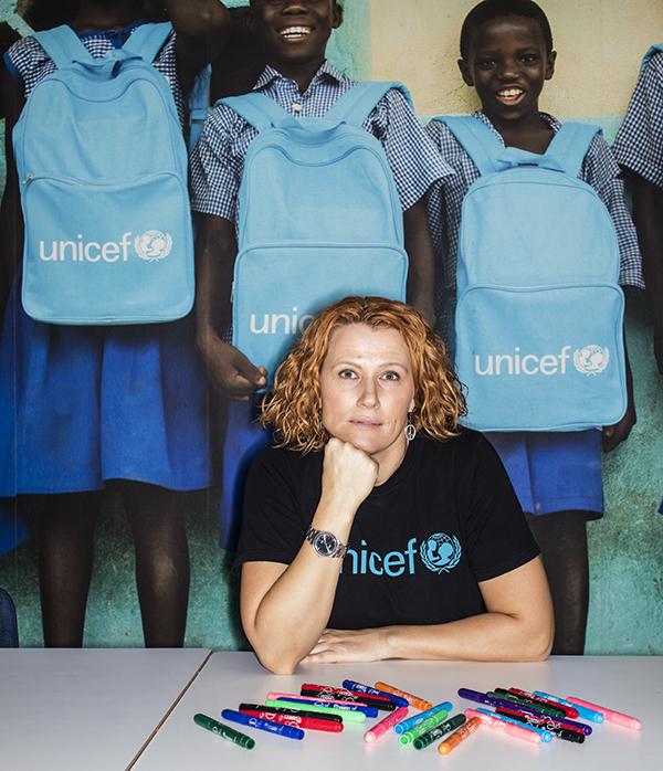 Cecilia Åhl på Unicef