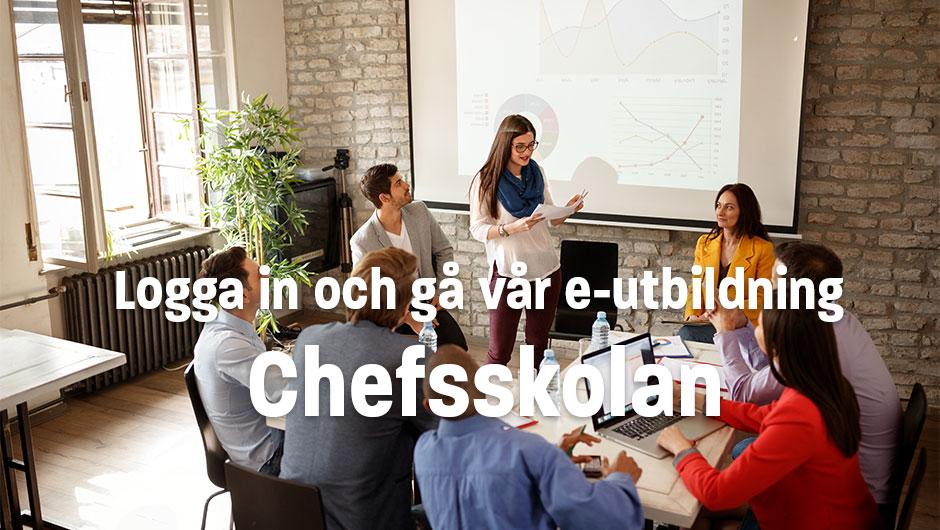 Logga in och gå e-utbildningen Chefsskolan