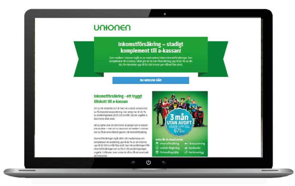 Kampanjsida om inkomstförsäkringen
