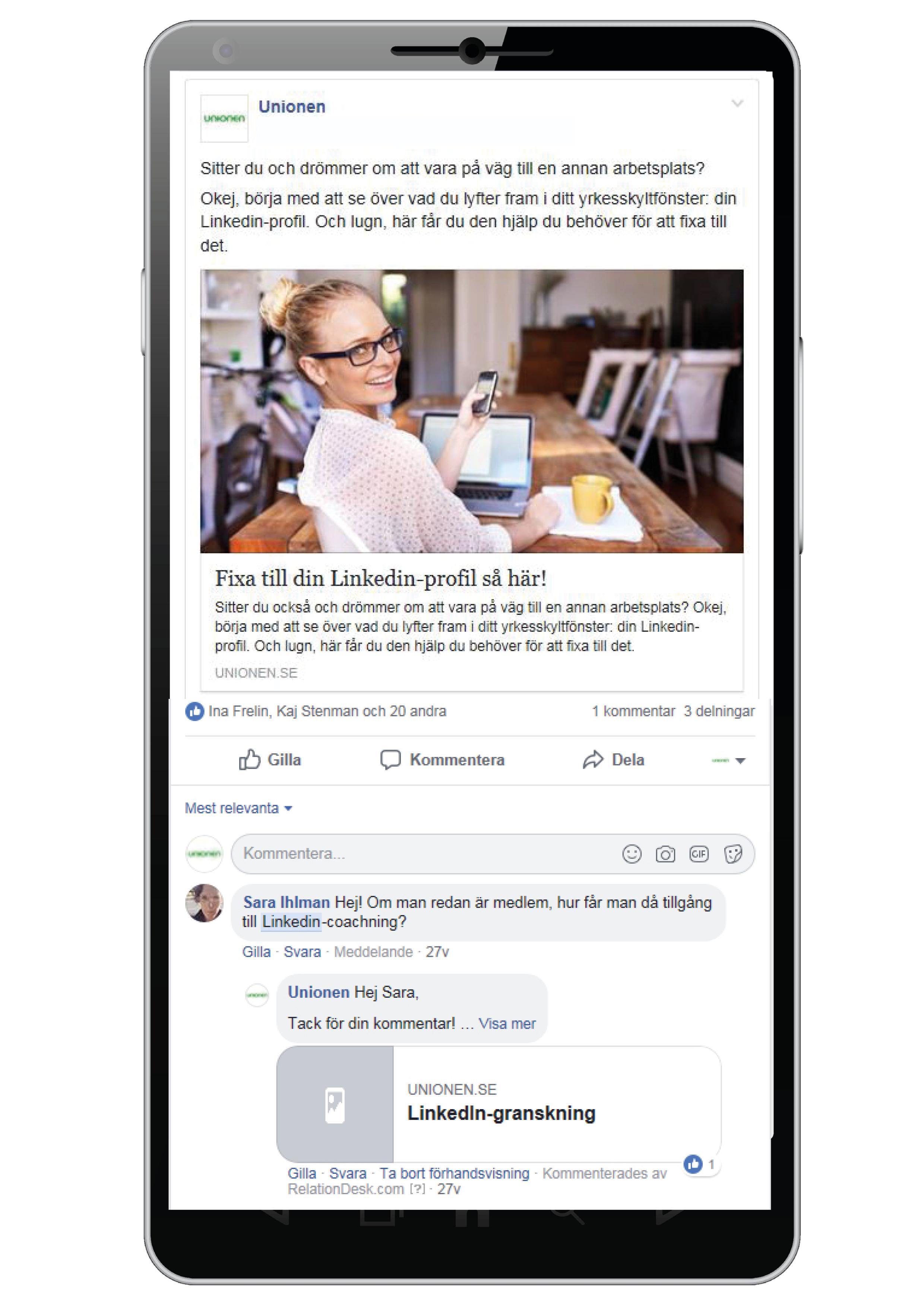Artikel om Linkedin-granskning