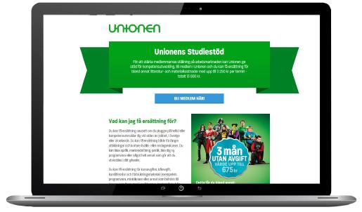Kampanjsida om studiesstödet