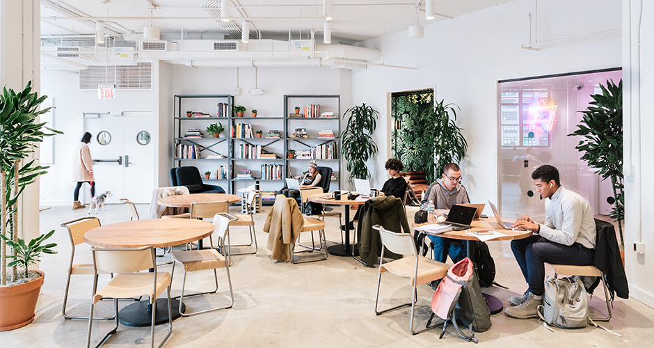 WeWorks erbjuder flexibla arbetsplatser